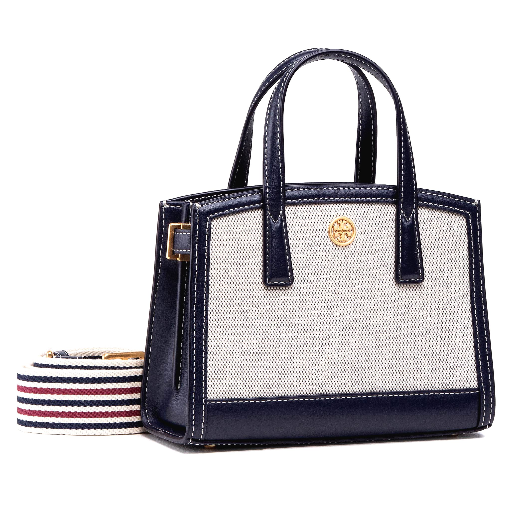 Kabelka TORY BURCH - Walker Canvas Micro Satchel 79409 Tory Navy 405